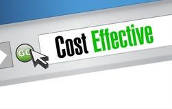 Kostnad - effektivt online-ledningteckenbegrepp Royaltyfri Foto