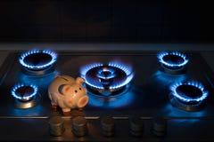 Kostnaden av metangas Royaltyfri Fotografi