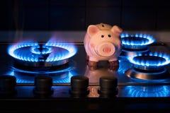 Kostnaden av metangas Arkivbilder