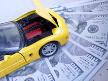 Kostnader av bilreparationer Arkivfoton