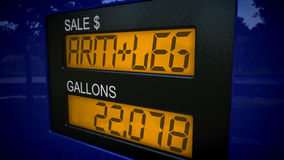 Kostnader av gas är en arm och ett ben Royaltyfri Foto