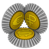 Kostnadsförslag av valutor Begrepp Royaltyfria Bilder