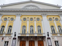 Kostroma状态以A命名的戏曲剧院门面  n 奥斯特洛夫斯基(19世纪) 免版税库存图片