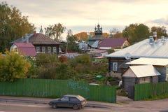 Kostroma镇,俄罗斯看法,从伏尔加河 Kostroma是在伏尔加河位于的一个普遍的旅游镇,一个镇从 图库摄影