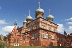 Kostroma, de kerk van de Verrijzenis op Debra Stock Foto's
