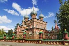 Kostroma kościół rezurekcja na Debra Obraz Royalty Free