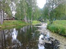 Kostroma Ryssland museet av wood konster fotografering för bildbyråer