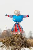 Kostroma or straw Lady Maslenitsa during winter Maslenitsa carni Stock Photography