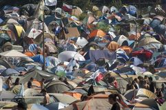 KOSTRZYN, festival de Przystanek Woodstock. Imagem de Stock