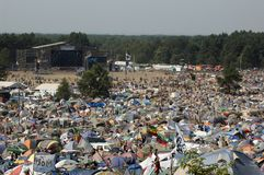 KOSTRZYN, festival de Przystanek Woodstock. foto de stock royalty free