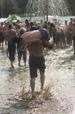 KOSTRZYN, POLEN, Przystanek Woodstock Festival. Lizenzfreie Stockfotos