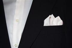 Kostuum met zakdoek Royalty-vrije Stock Foto's