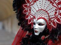 Kostuum in Venetië Carnaval Stock Foto