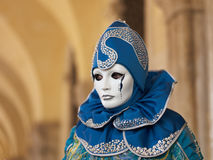 Kostuum in Venetië Carnaval Stock Fotografie