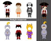 Kostuumsinzameling voor jongen Stock Foto