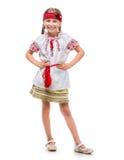 kostymera flickan little nationell ukrainare Fotografering för Bildbyråer