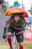 Kostymerad cykelRacer - mexikan Royaltyfria Foton