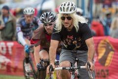 Kostymerad cykelRacer - Paul LaCava Fotografering för Bildbyråer