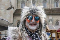 Kostymerad hippie Arkivfoton