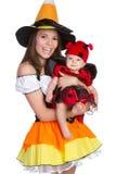 kostymerar halloween royaltyfri foto