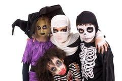 kostymerar halloween ungar Arkivfoton
