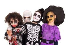 kostymerar halloween ungar Fotografering för Bildbyråer