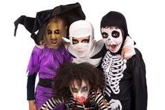 kostymerar halloween ungar Arkivfoto