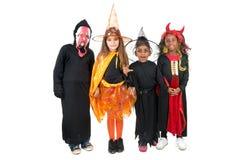 kostymerar halloween ungar Arkivbild