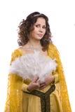 kostymerar princesskvinnan royaltyfri fotografi