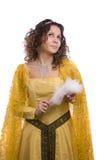 kostymerar princesskvinnan royaltyfri foto