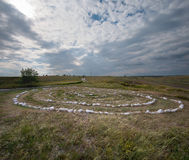 Kostyonki,石头迷宫  免版税库存图片