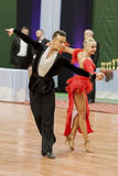 Kosyakov Egor and Navoychik Anna Perform Adult Latin-American Program on National Championship Stock Image