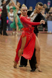 Kosyakov Egor and Navoychik Anna Perform Adult Latin-American Program on National Championship Stock Photos