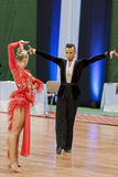 Kosyakov Egor und Navoychik Anna Perform Adult Latin-American Program auf nationaler Meisterschaft Stockfotos
