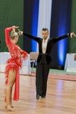 Kosyakov Egor und Navoychik Anna Perform Adult Latin-American Program auf nationaler Meisterschaft stockfotos