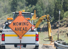 `` Koszący Naprzód `` znaka na plecy ciężarówka Obrazy Stock