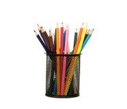 kosz barwiący pełni właściciela ołówki obrazy stock