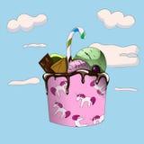 Kosz cukierki Obrazy Royalty Free