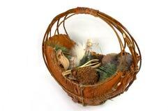 kosz drewniany Fotografia Stock