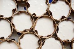Koszy kształtni chińscy puddingi Zdjęcie Stock