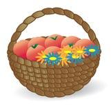 kosz kwitnie owoc Obraz Royalty Free