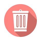 Kosz na śmieci mieszkania ikona royalty ilustracja