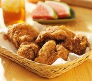 Kosz pieczony kurczak z słodką herbatą Obraz Royalty Free