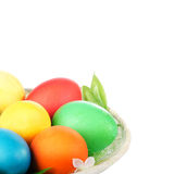 kosza barwioni Easter jajka Obraz Stock