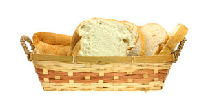 kosza chleba przodu oatmeal widok zdjęcia royalty free