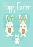 kosza karcianych kolorowych Easter jajek łąkowy wiosna szablonu wicker Fotografia Stock
