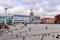 Koszalin city hall Royalty Free Stock Images