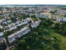 Free KOSZALIN, POLAND - 10 AUGUST 2018 - Aerial View On City Koszalin, Area Of Jantarowa Street With Houses And Park. Stock Image - 125758921