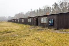 Koszaruje VIII i VIIIa w obozie KL Stutthof, Polska Obraz Stock