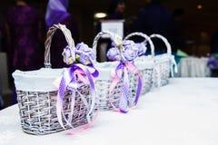 Kosze na stole Zdjęcie Royalty Free